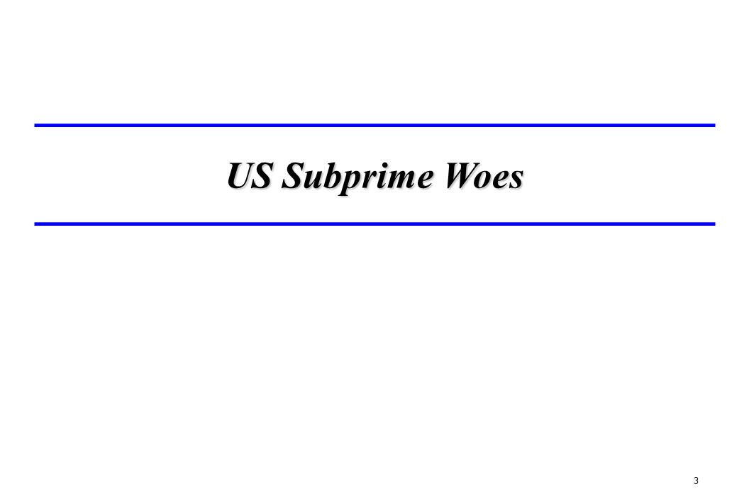 US Subprime Woes