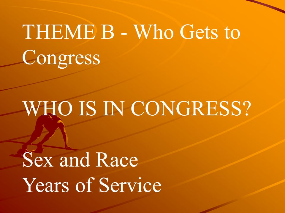 THEME B ‑ Who Gets to Congress