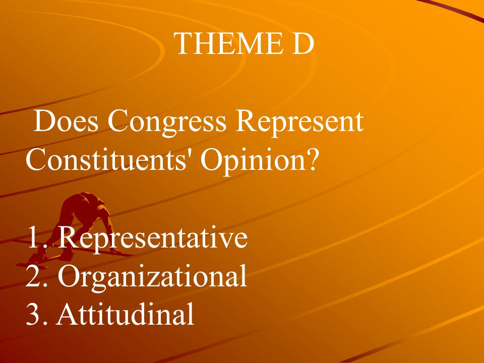 THEME D Does Congress Represent Constituents Opinion.