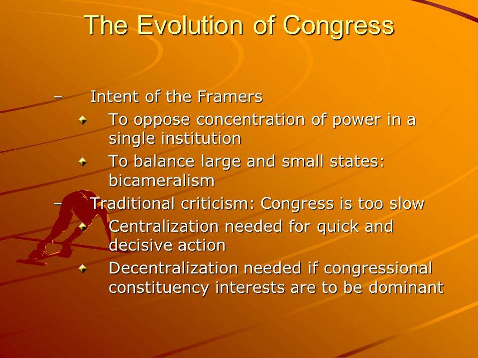 The Evolution of Congress