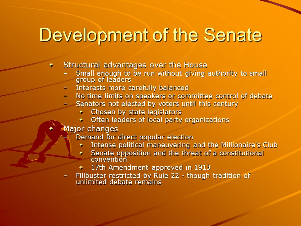 Development of the Senate