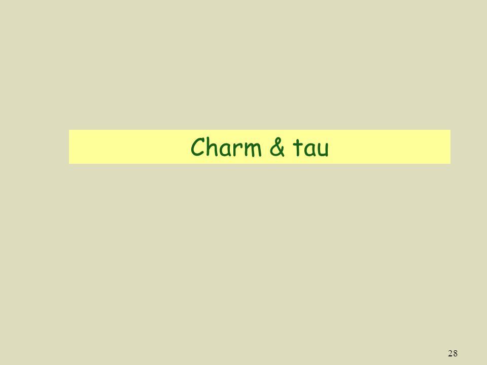 Charm & tau