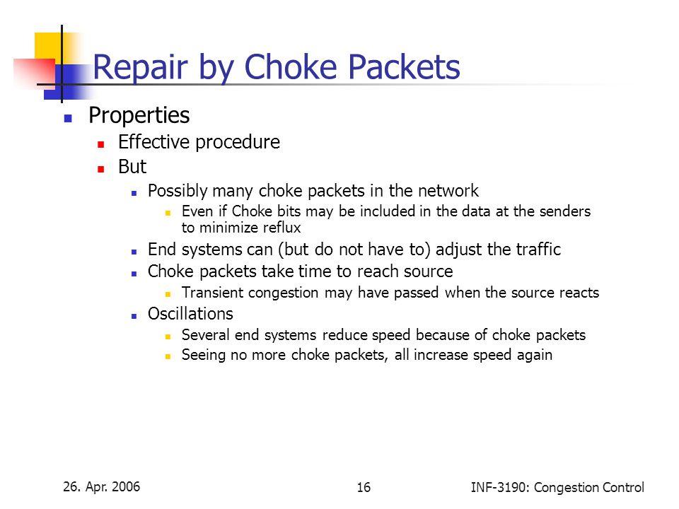 Repair by Choke Packets