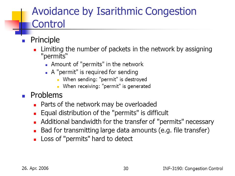 Avoidance by Isarithmic Congestion Control