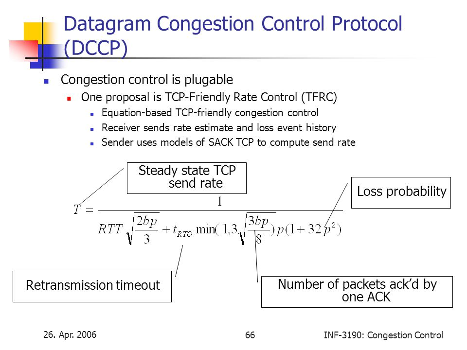 Datagram Congestion Control Protocol (DCCP)