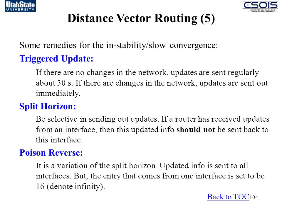 Distance Vector Routing (5)
