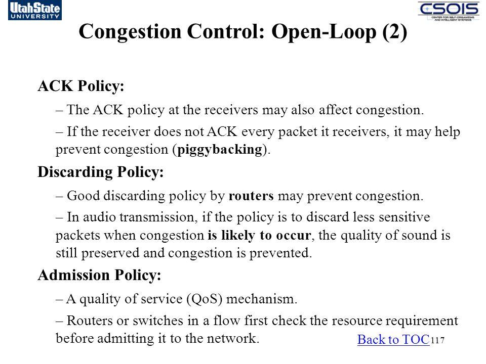Congestion Control: Open-Loop (2)