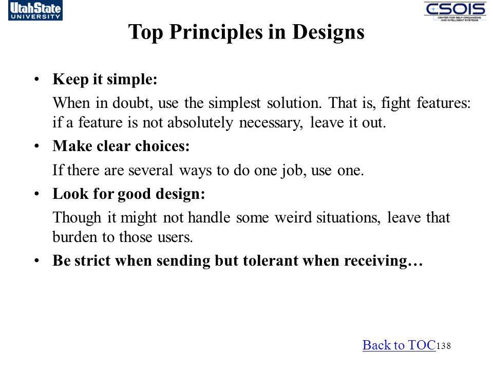 Top Principles in Designs