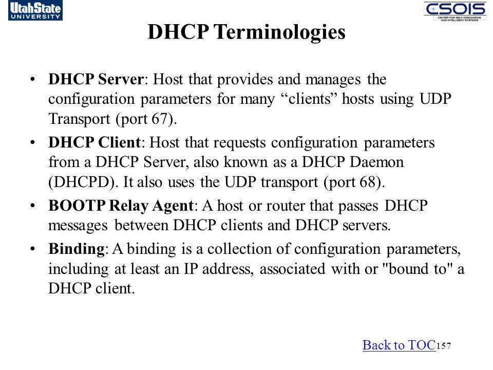 DHCP Terminologies