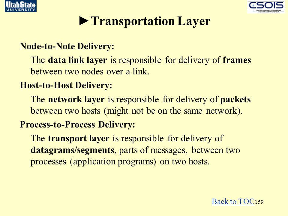 ►Transportation Layer