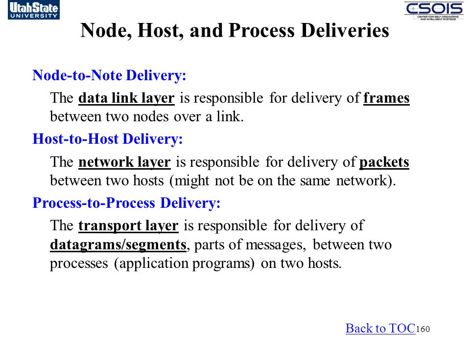Node, Host, and Process Deliveries