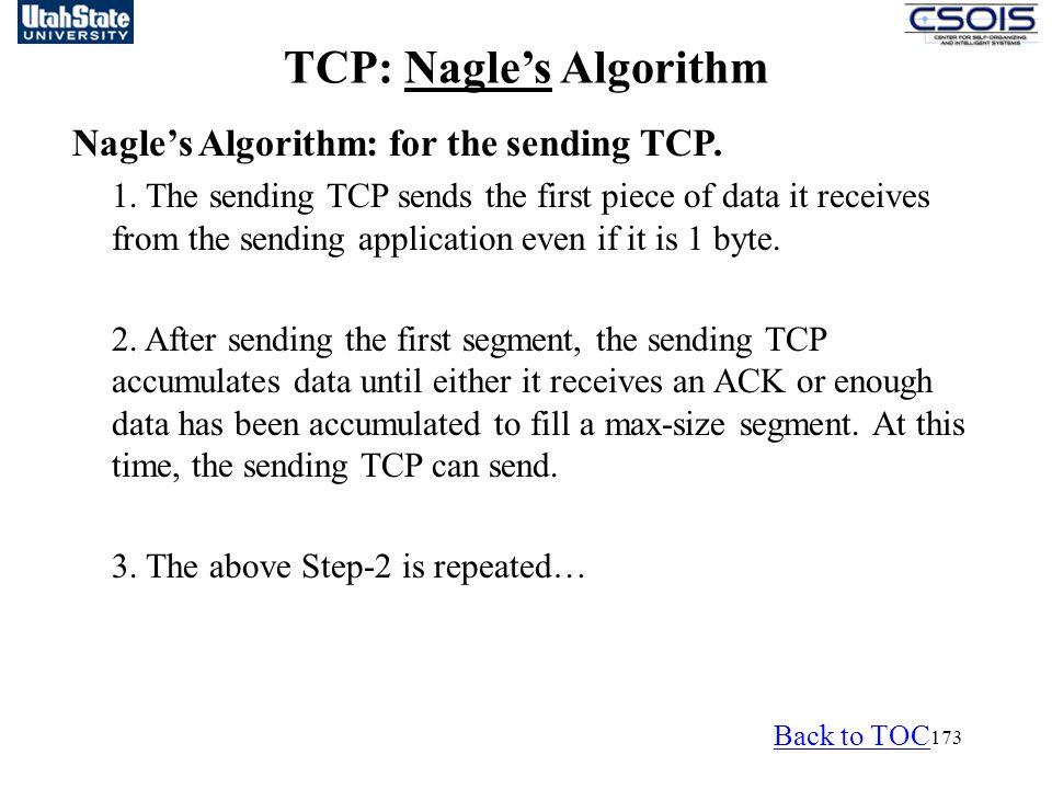 TCP: Nagle's Algorithm