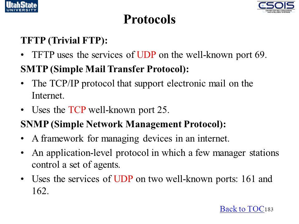 Protocols TFTP (Trivial FTP):