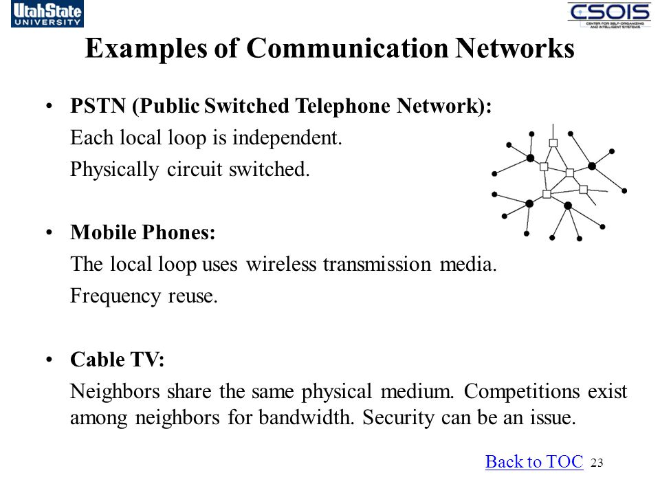 Examples of Communication Networks