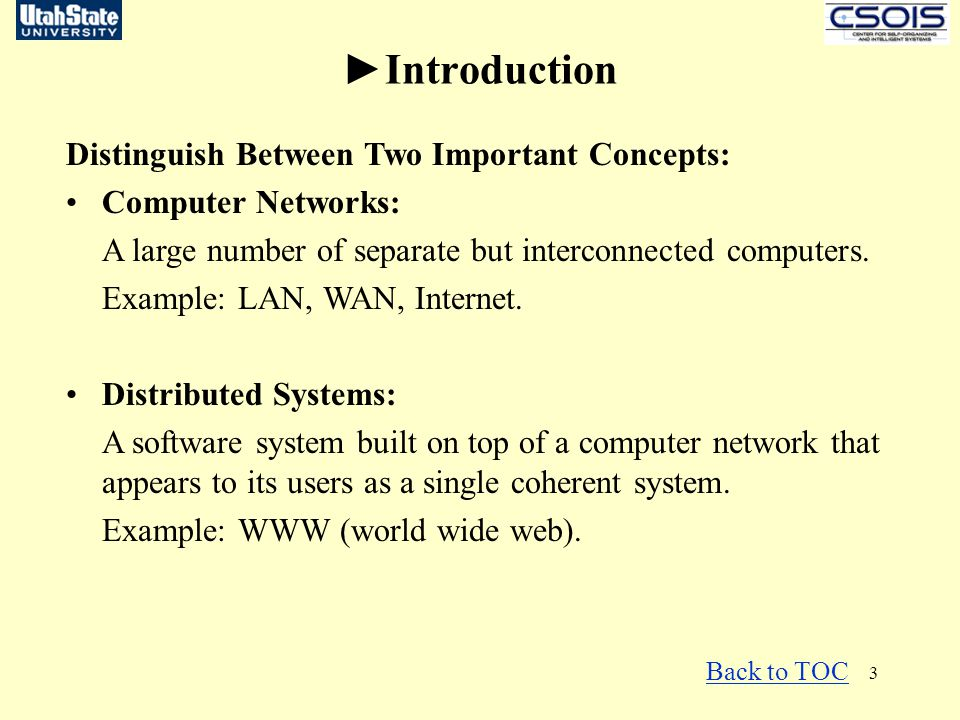 ►Introduction Distinguish Between Two Important Concepts: