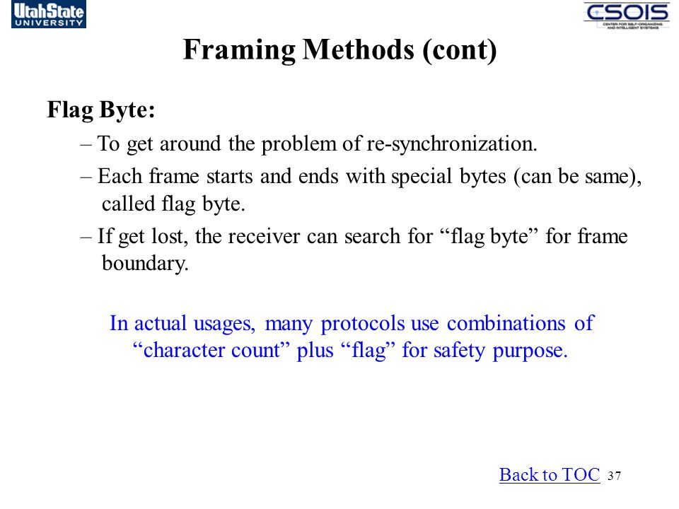 Framing Methods (cont)