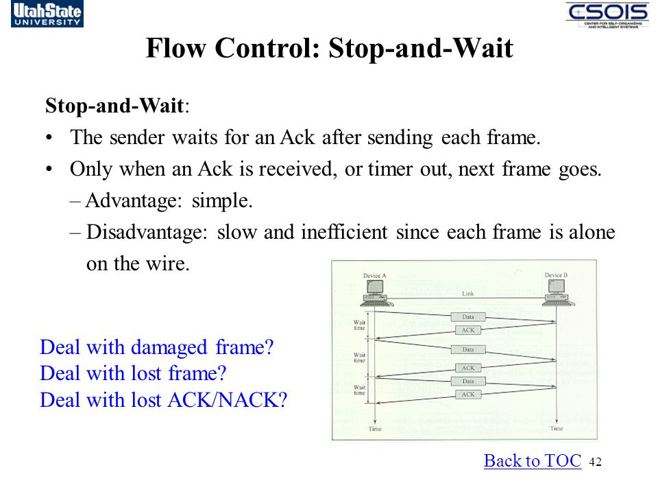Flow Control: Stop-and-Wait