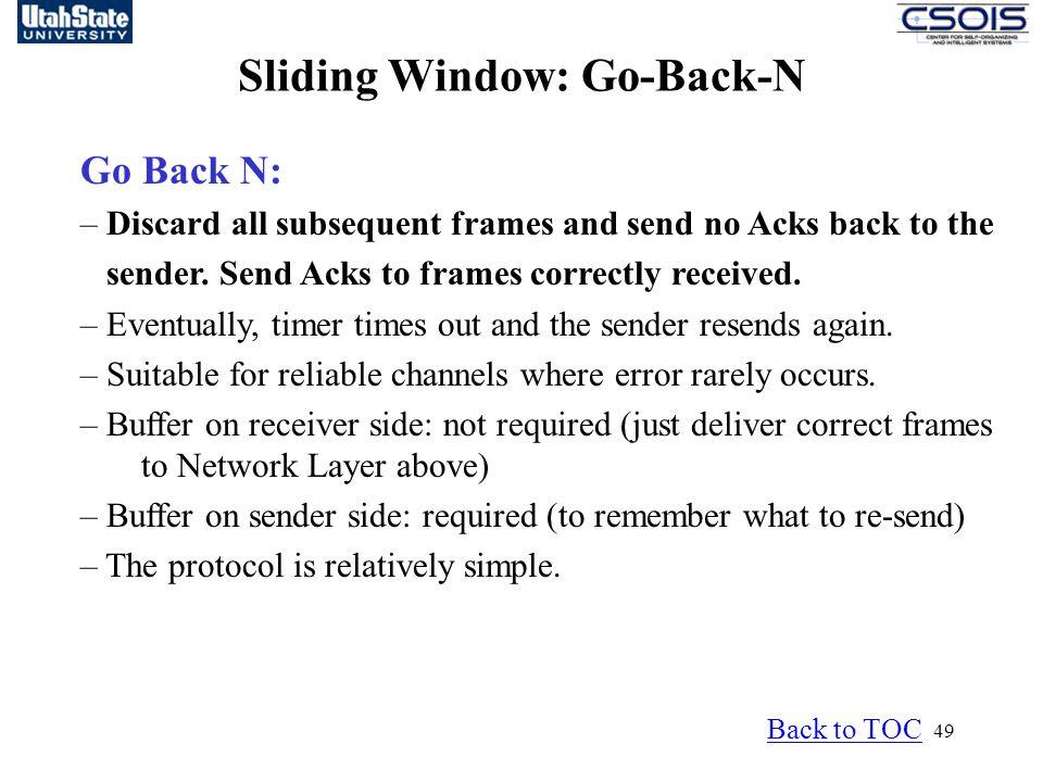 Sliding Window: Go-Back-N