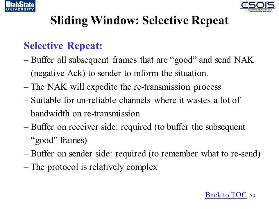 Sliding Window: Selective Repeat