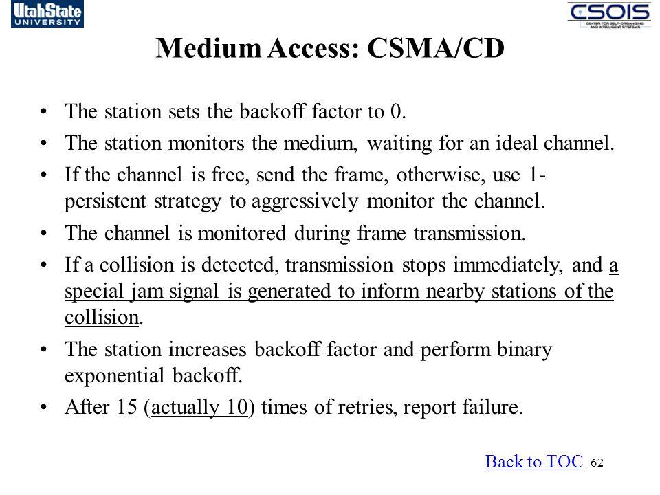 Medium Access: CSMA/CD