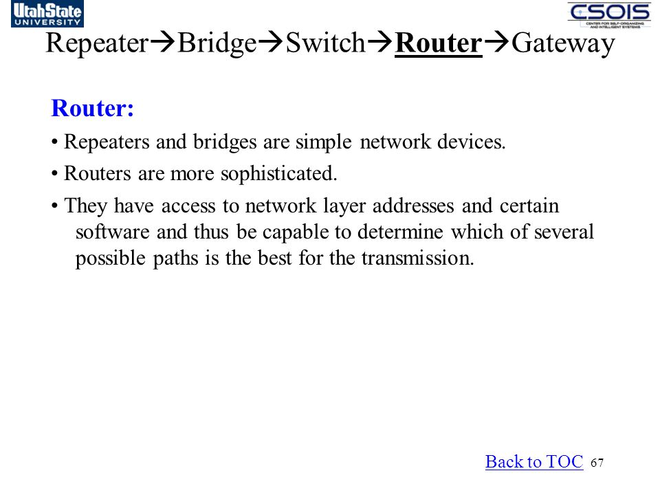 RepeaterBridgeSwitchRouterGateway