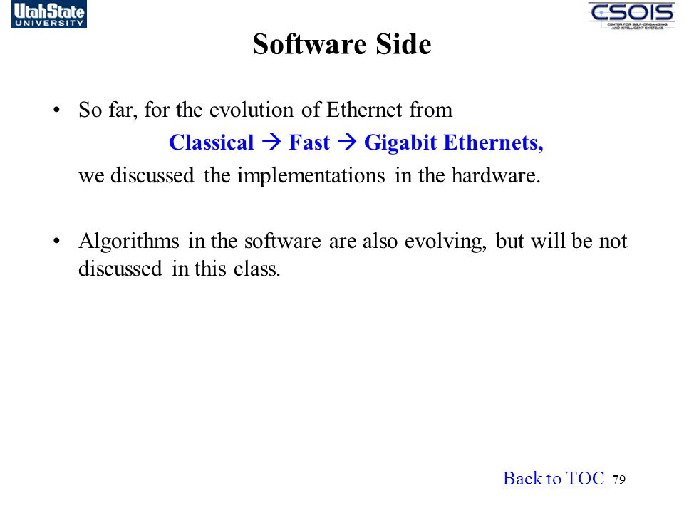 Classical  Fast  Gigabit Ethernets,