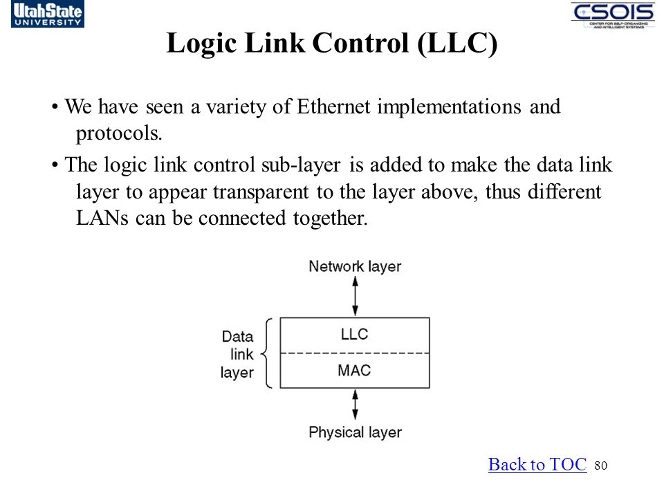 Logic Link Control (LLC)