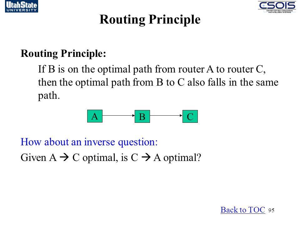 Routing Principle Routing Principle: