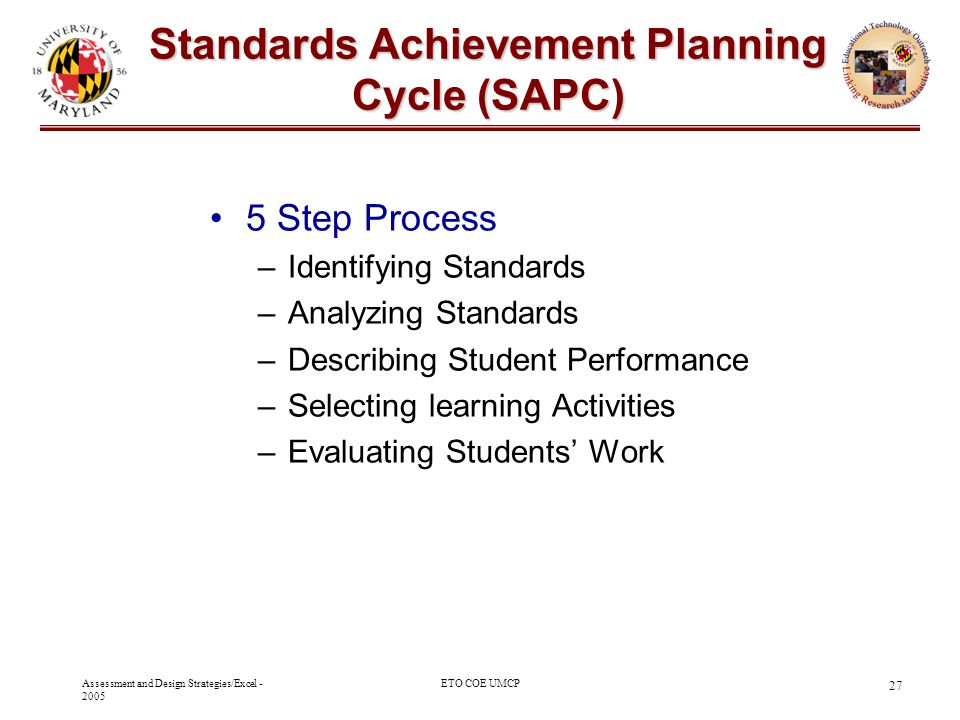 Standards Achievement Planning Cycle (SAPC)