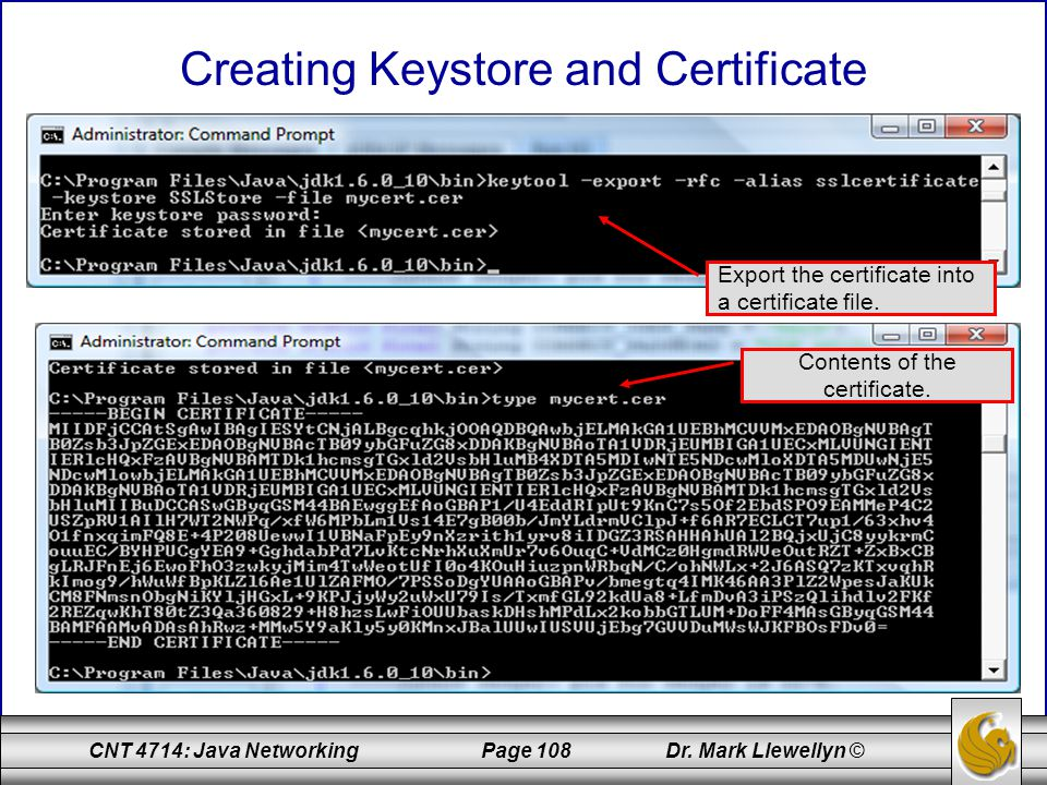 Creating Keystore and Certificate