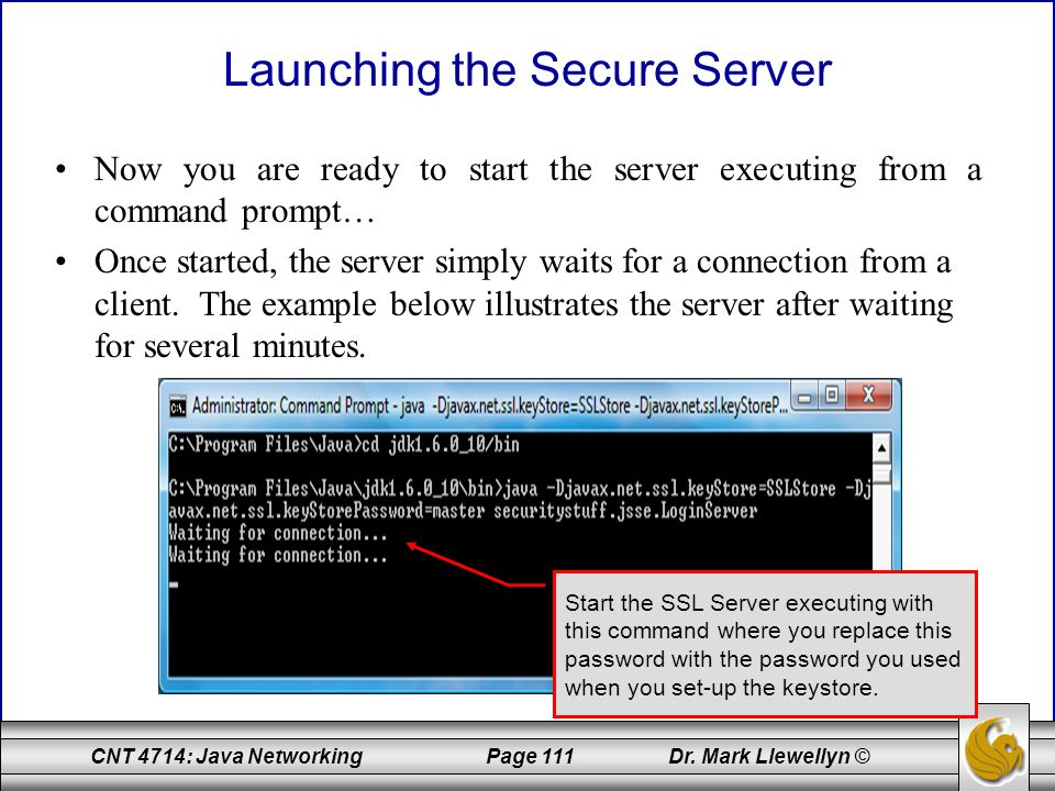 Launching the Secure Server