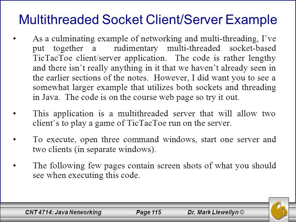 Multithreaded Socket Client/Server Example