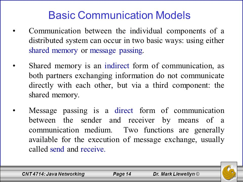 Basic Communication Models