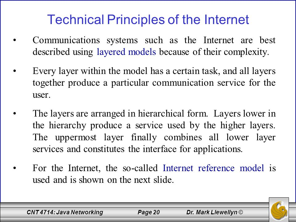 Technical Principles of the Internet