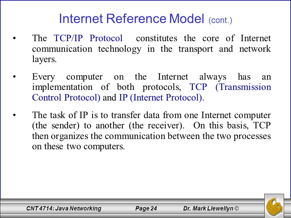 Internet Reference Model (cont.)