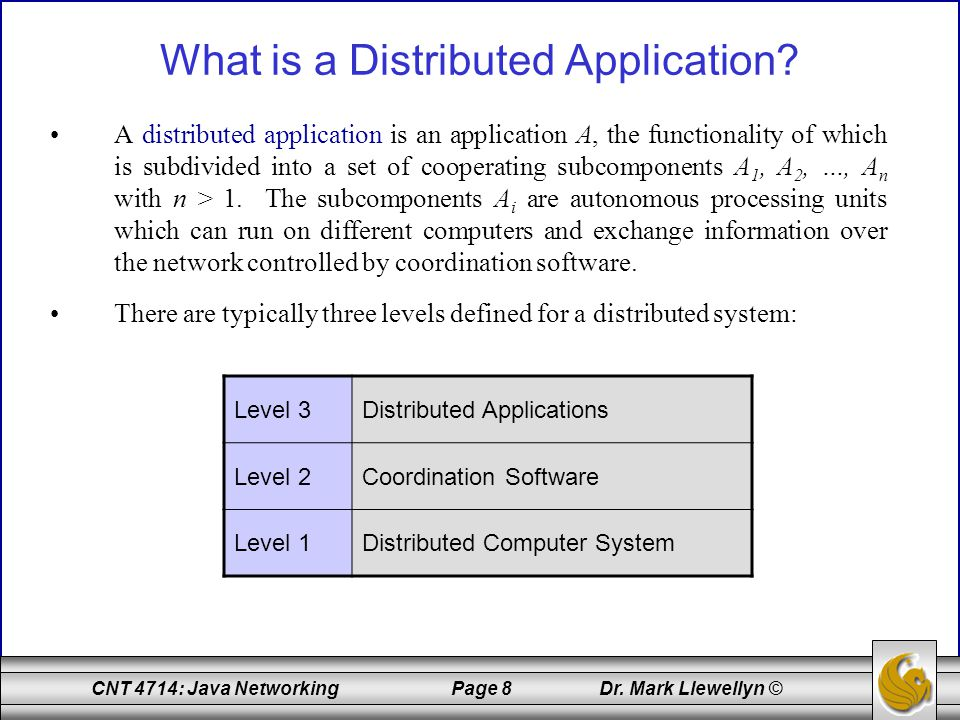 What is a Distributed Application