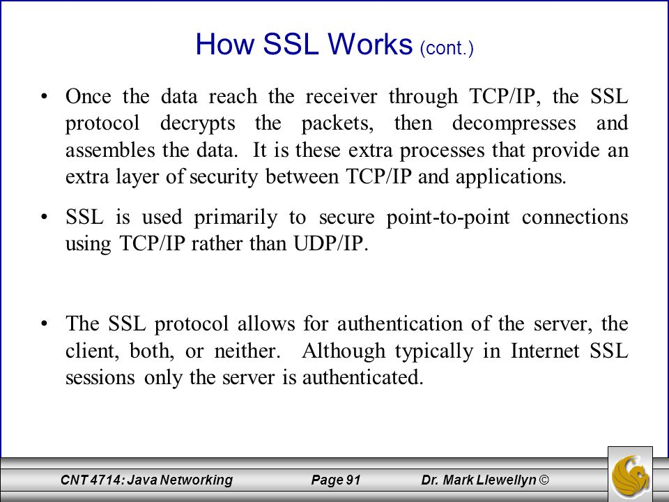 How SSL Works (cont.)