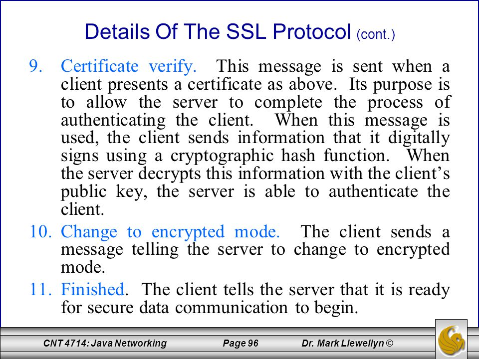 Details Of The SSL Protocol (cont.)
