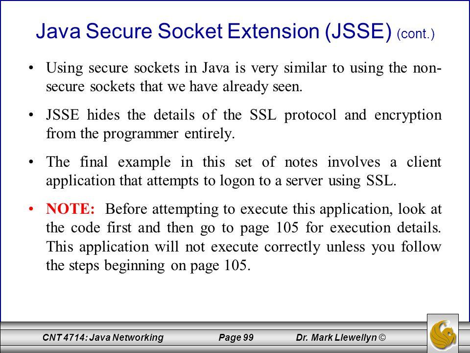 Java Secure Socket Extension (JSSE) (cont.)
