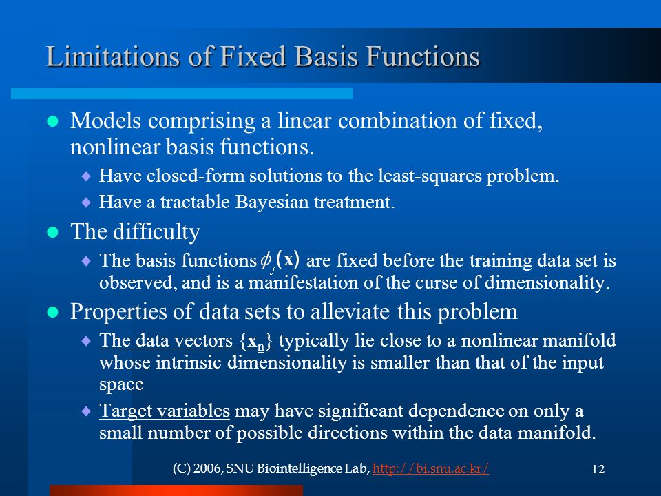 Limitations of Fixed Basis Functions