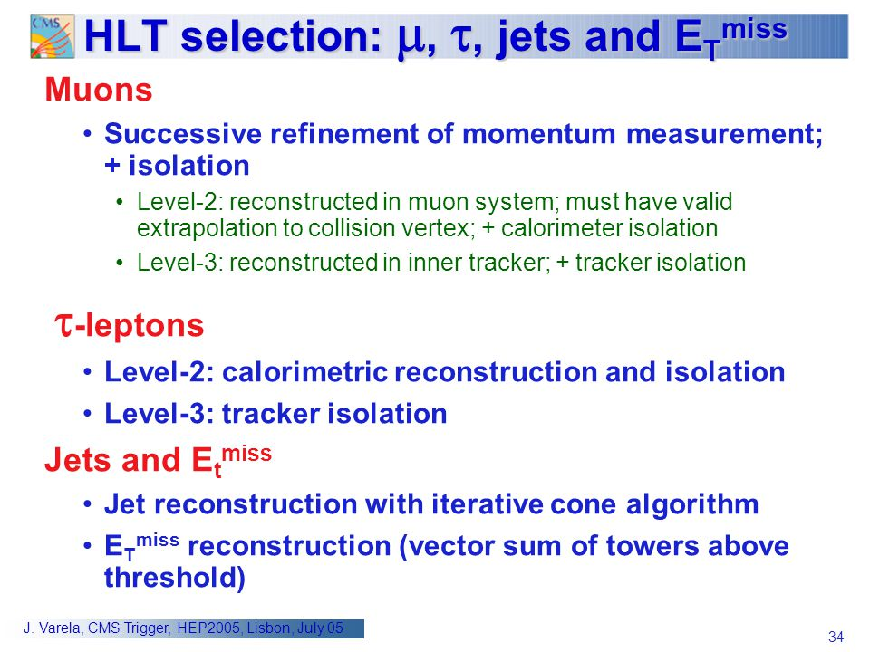 HLT selection: , , jets and ETmiss