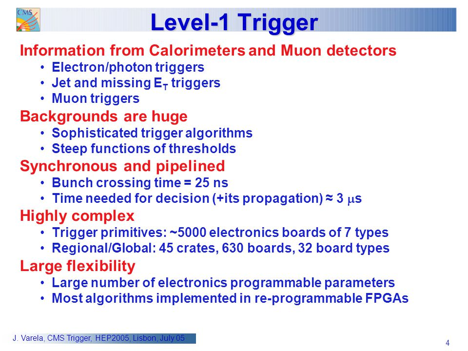 Level-1 Trigger Information from Calorimeters and Muon detectors
