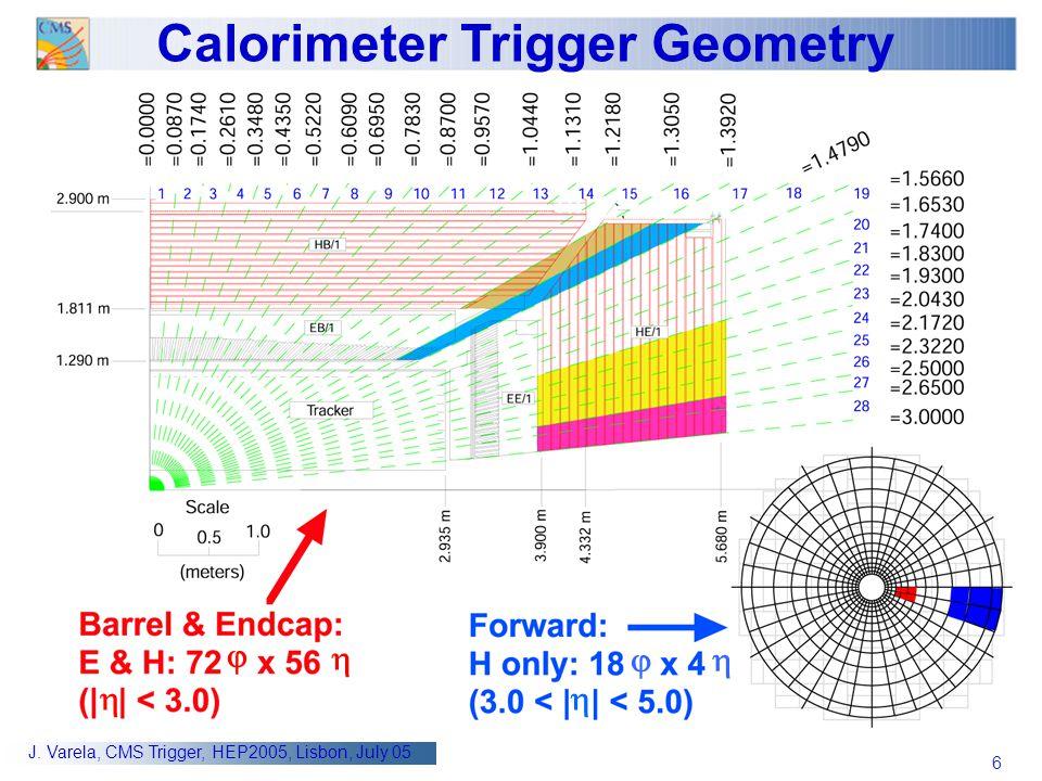 Calorimeter Trigger Geometry