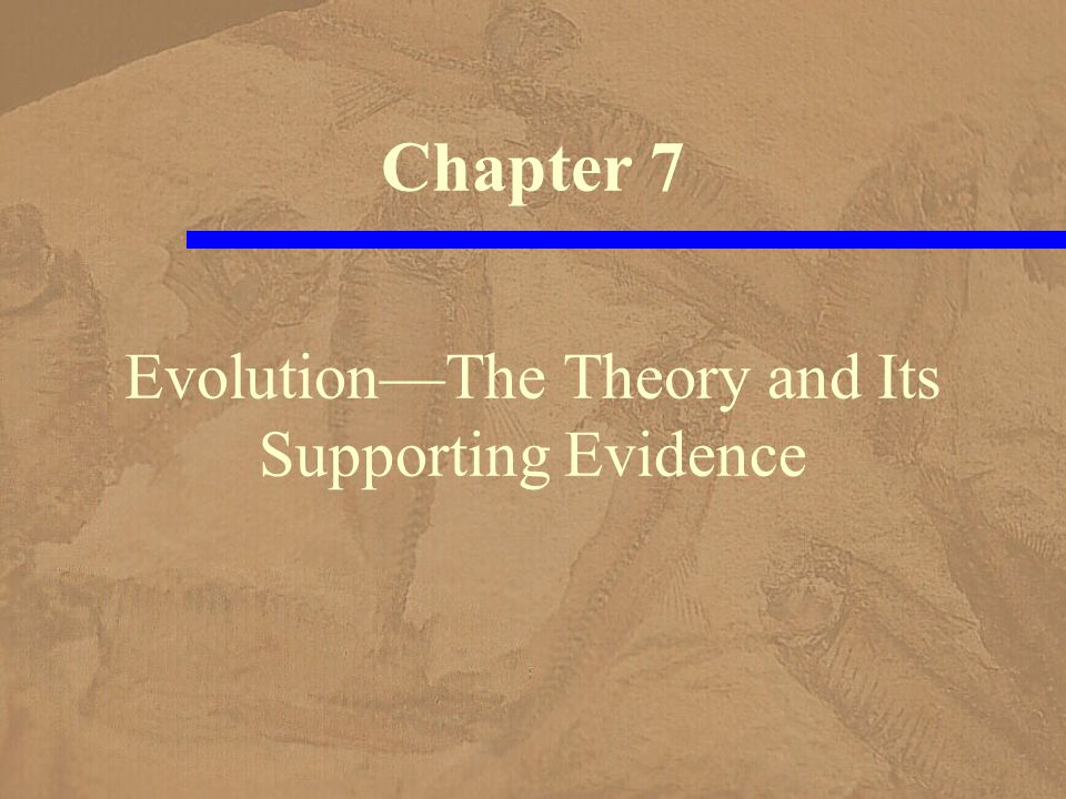Evolution—The Theory and Its Supporting Evidence