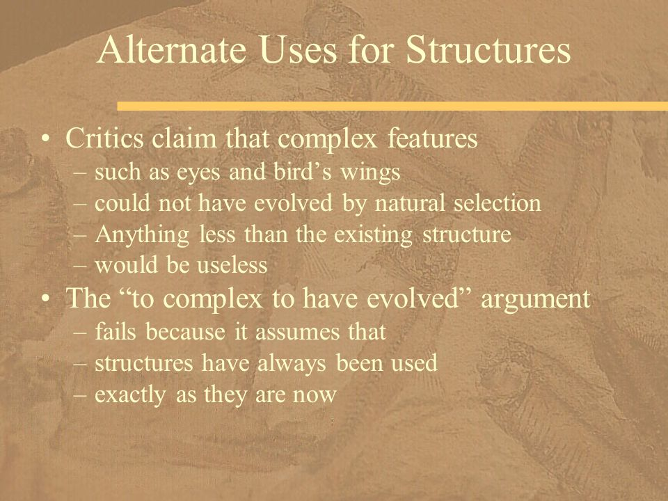 Alternate Uses for Structures