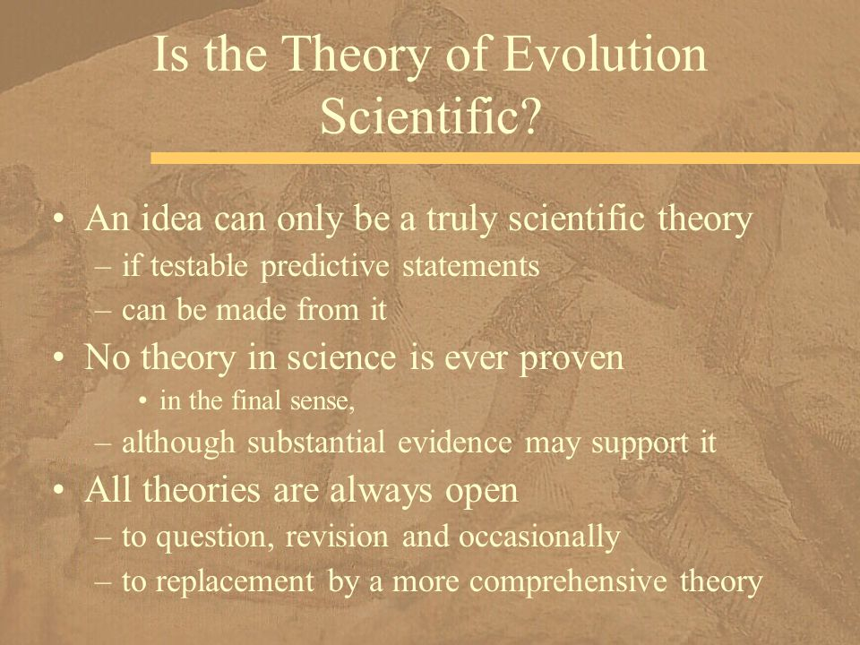 Is the Theory of Evolution Scientific