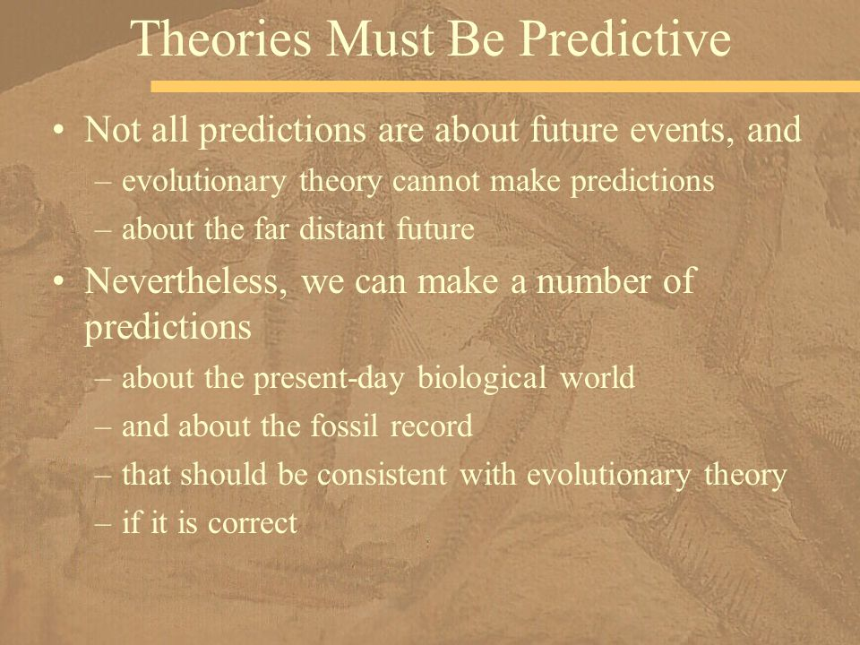 Theories Must Be Predictive