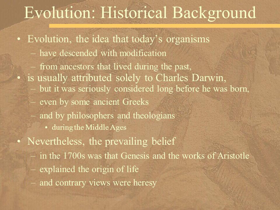 Evolution: Historical Background