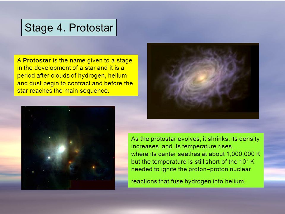 Stage 4. Protostar