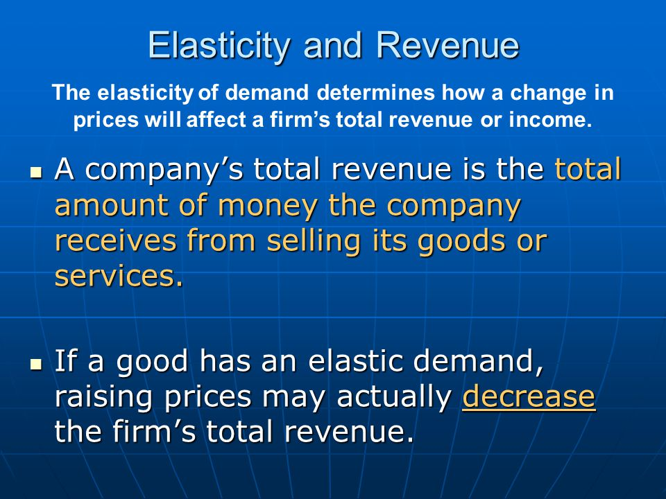 Elasticity and Revenue